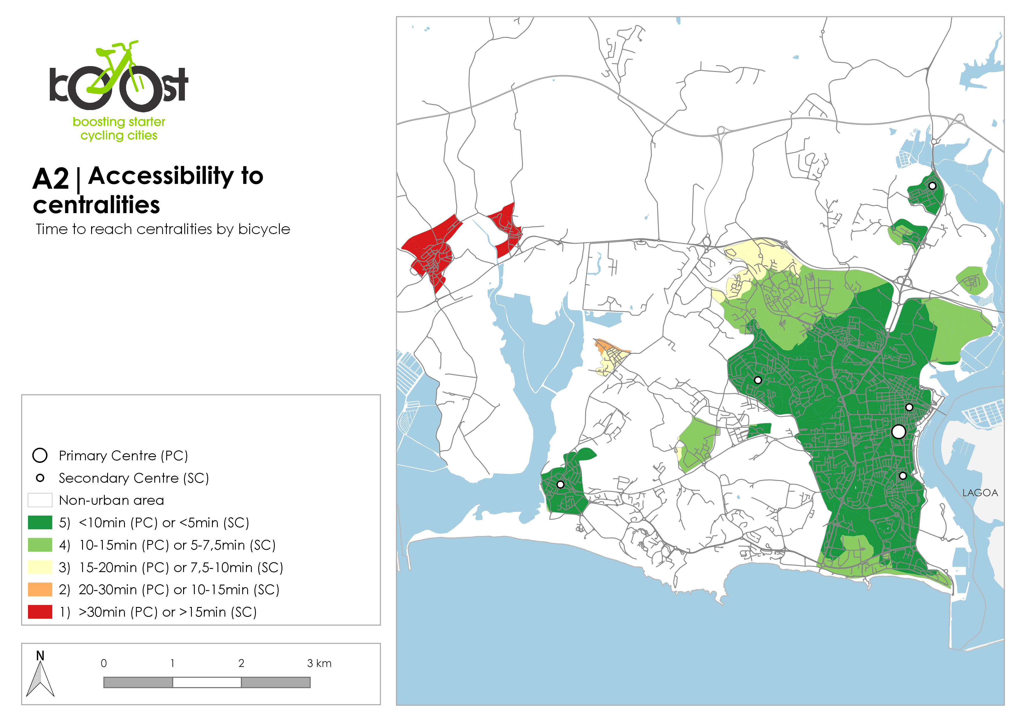 A2   Accessibility to centralities